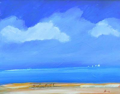 Wall Art - Painting - Big Blue Sky by Sally Huss