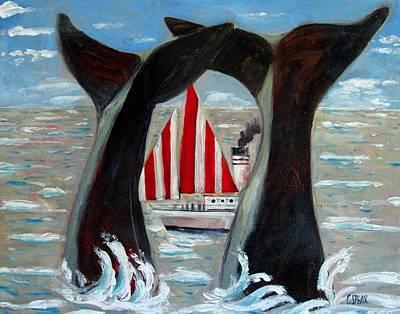 Big Blue Splash Original by Charlie Spear