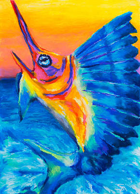 Salt Water Game Fish Painting - Big Blue by Stephen Anderson
