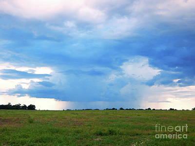 Photograph - Big Blue Storm Sky  by Expressionistart studio Priscilla Batzell