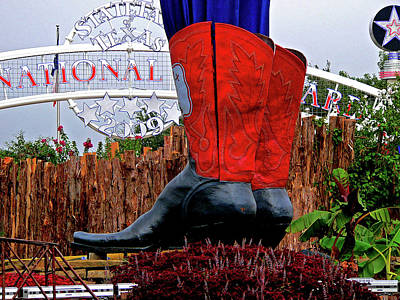 Tex Photograph - Big Boots by Angela Wright