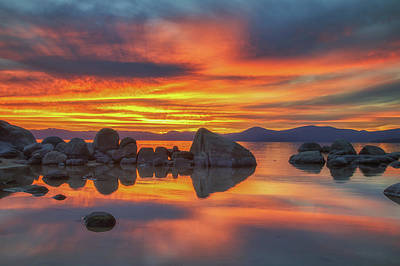 Photograph - Big Boulders At Sunset by Marc Crumpler