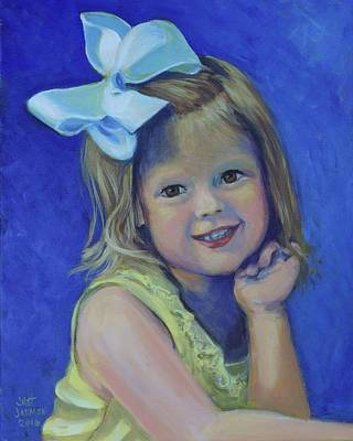 Painting - Big Bow Little Girl by Jeanette Jarmon
