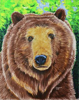 Grizzly Bear Mixed Media - Big Boy by Elizabeth Cox