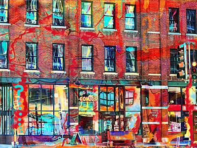 Photograph - Big Brain City Wall by Susan Stone
