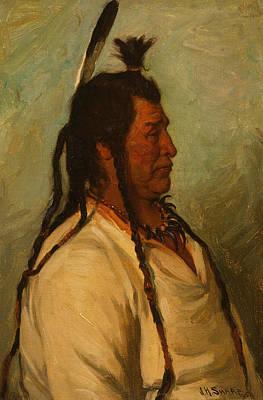Painting - Big Brave, Blackfeet Dance Chief by Joseph Henry Sharp