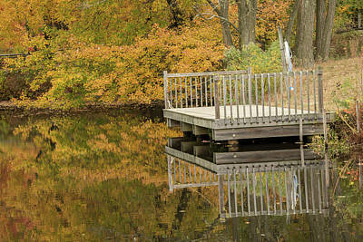 Photograph - Big Brook Park Lake In Autumn by Gary Slawsky