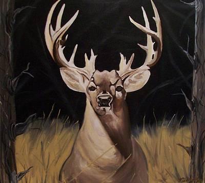 Big Buck Paintings Art Print by Mikayla Ziegler