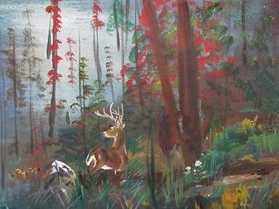 Painting - Big Buck by Susan Snow Voidets