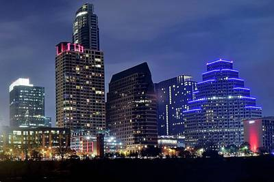 Photograph - Big Buildings In Austin by Frozen in Time Fine Art Photography
