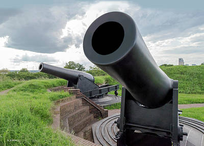 War Monuments And Shrines Photograph - Big Cannons - Ft Mchenry by Brian Wallace