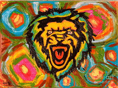 Painting - Big Cat Abstract by Gerhardt Isringhaus