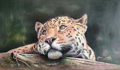 Big Cat Dream Original by Hari Singh