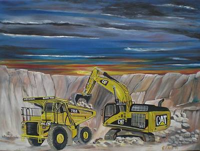 Dump Truck Painting - Big Cats by Colin O neill