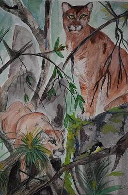 Painting - Big Cats by Susan Voidets