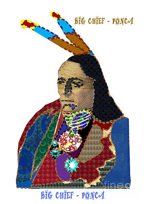 Painting - Big Chief  Ponca Tribe Of America Artistic Presentation By Navinjoshi At Fineartamerica.com Image Al by Navin Joshi