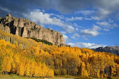 Photograph - Big Cimarron Castle Aspens by Ray Mathis