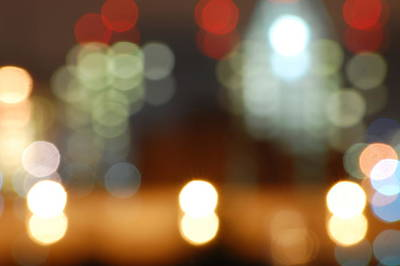 Photograph - Big City Bokeh by Michael Donahue