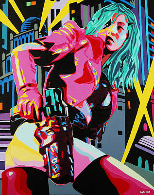 Painting - Big City Girl by Bobby Logic