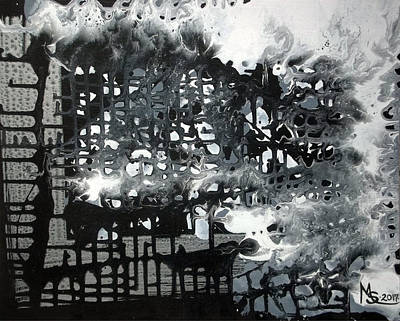 Painting - Big City Lights by Absinthe Art By Michelle LeAnn Scott