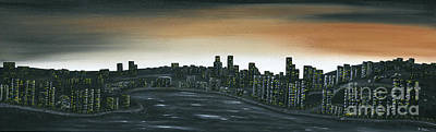 Painting - Big City Lights by Kenneth Clarke