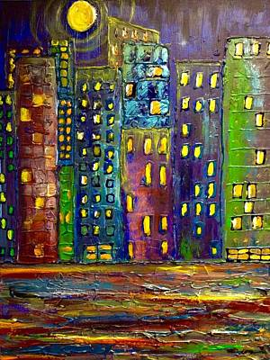 Painting - Big City Lights  by Susan Hendrich