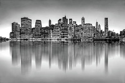 Big City Reflections Art Print
