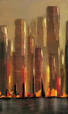 Digital Art - Big City Sunset by Eduardo Tavares