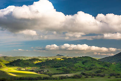 Big Clouds Over The Round Valley Art Print