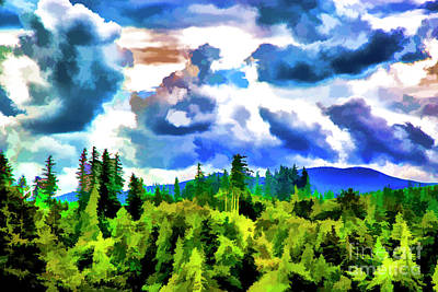 Digital Art - Big Clouds by Rick Bragan