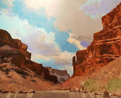 Painting - Big Club Bend Colorado River Grand Canyon by Jessica Anne Thomas