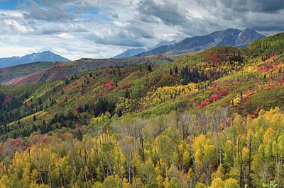 Big Cottonwood Canyon Fall Colors Art Print by Dean Hueber