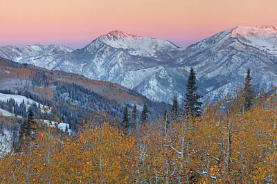 Big Cottonwood Canyon Wasatch Sunrise Art Print by Dean Hueber