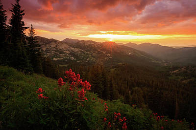 Photograph - Big Cottonwood Sunset by Johnny Adolphson