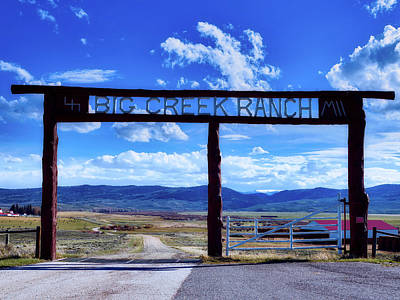 Photograph - Big Creek Ranch by L O C