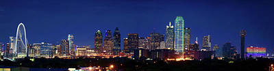 Dallas Skyline Photograph - Big D Pano 61316 by Rospotte Photography