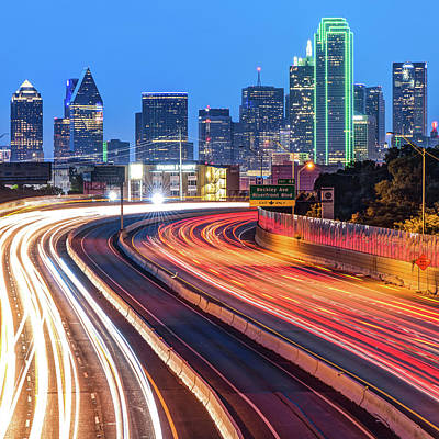 Photograph - Big D Skyline - Texas Cityscape by Gregory Ballos