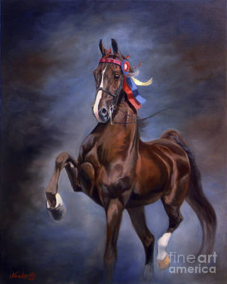 American Saddlebred Painting - Big Daddy by Jeanne Newton Schoborg