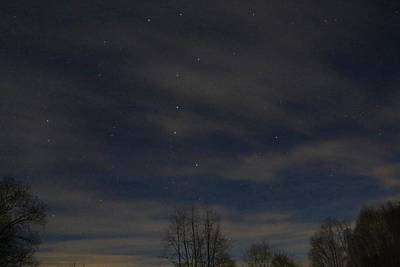 Photograph - Big Dipper Amid Clouds by Kathryn Meyer