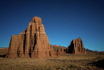 Valley Of The Moon Photograph - Big Dipper Over Capitol Reef National Park by James Udall