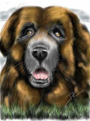 Digital Art - Big Dog by Darren Cannell