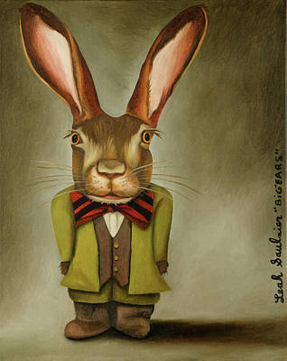 Painting - Big Ears by Leah Saulnier The Painting Maniac