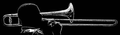 Music Royalty-Free and Rights-Managed Images - Big Easy Jazz 2 Black and White by Jeff Watts