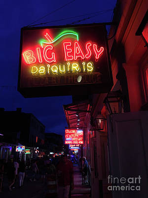 Photograph - Big Easy Sign by Steven Spak