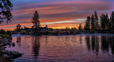 Photograph - Big Eddy Sunrise by Ken Aaron