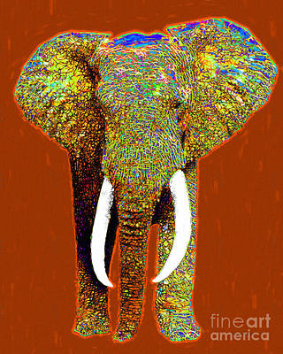 Big Elephant 20130201p20 Print by Wingsdomain Art and Photography