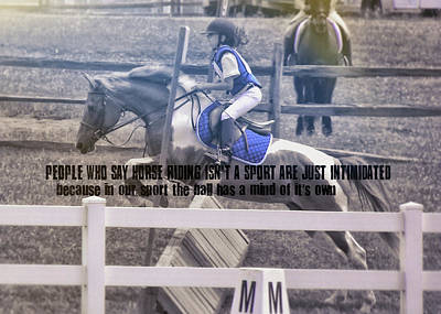 Photograph - Big Event Quote by JAMART Photography