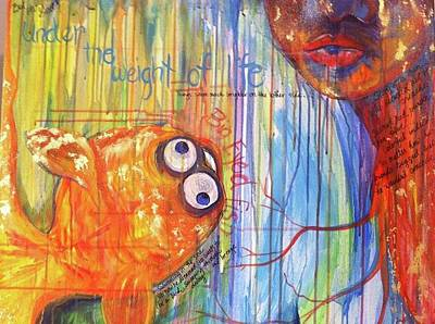 Painting - Big Eyed Fish by Made by Marley