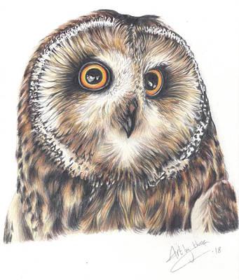 Drawing - Big Eyes by Art By Three Sarah Rebekah Rachel White