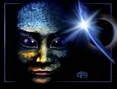 Mixed Media - Big  Eyes by Hartmut Jager